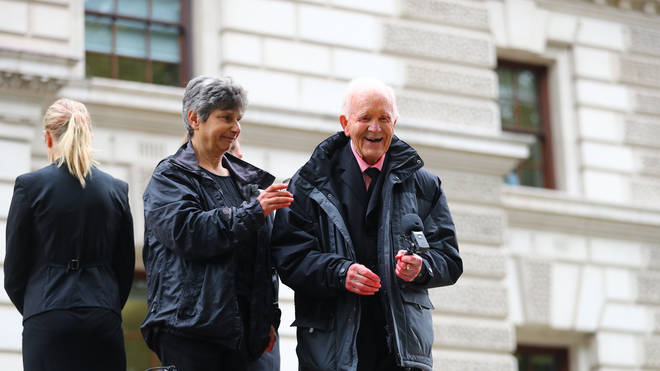 Phil Kingston, 83, is one of the activists