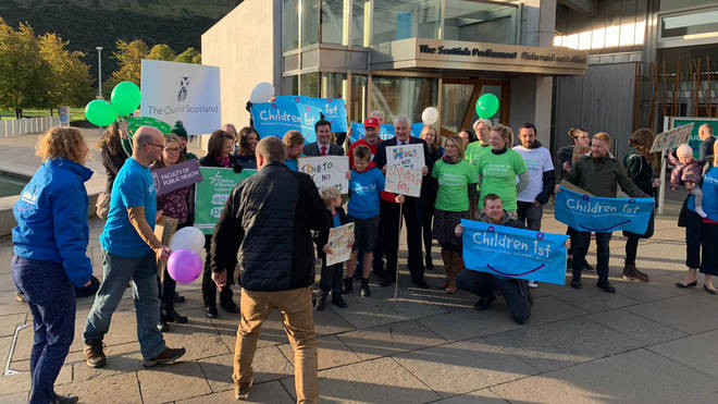 Anti-smacking campaigners celebrated the decision at Holyrood