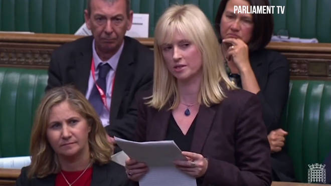 Rosie Duffield delivered her speech in the Commons