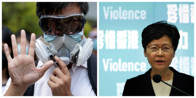 Protests have swept across Hong Kong