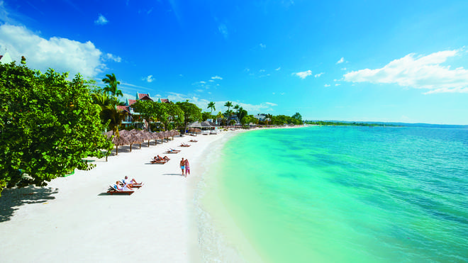 You could be going to Sandals, Jamaica