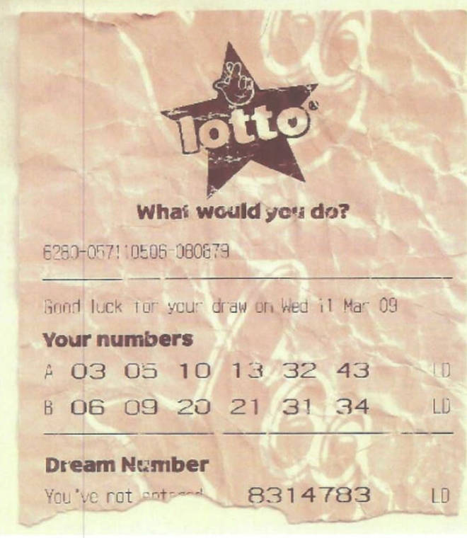 The fake lottery ticket