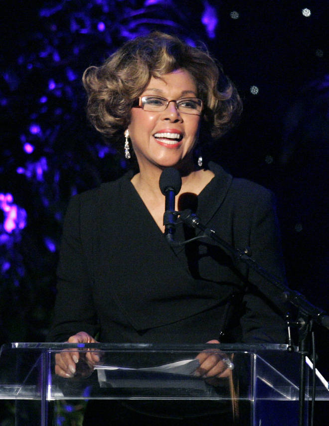 Diahann Carroll speaking at the 2007 Crystal and Lucy Awards in Beverly Hills, California