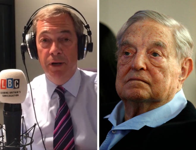 Nigel Farage warned George Soros over a second referendum bid