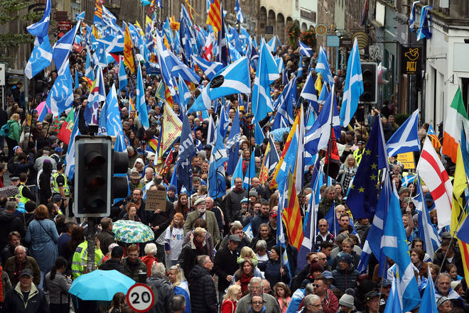 People have marched through the streets of Edinburgh in protest