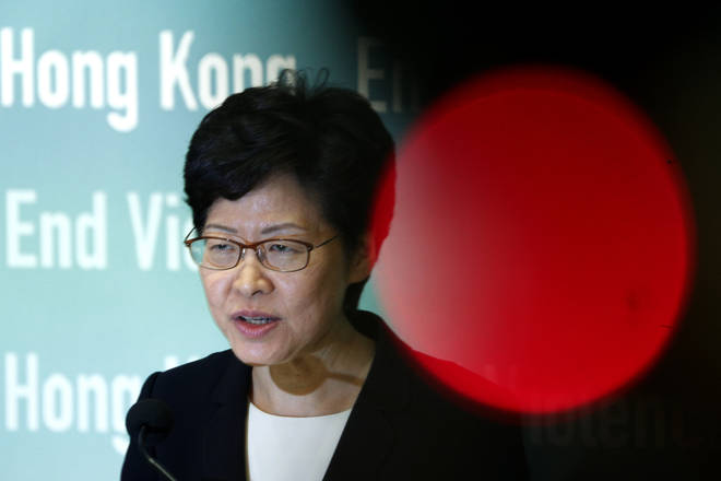 "Carrie Lam said Hong Kong is ""semi-paralysed"" by the violence"