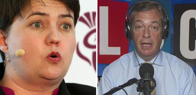 Ruth Davidson Nigel Farage