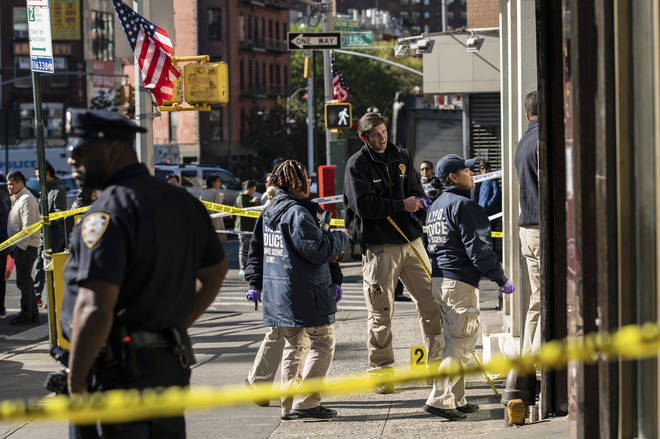The Chinatown area of New York has been cordoned off by police