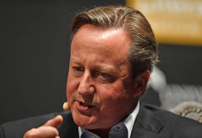 David Cameron was speaking at the Cheltenham Literature festival
