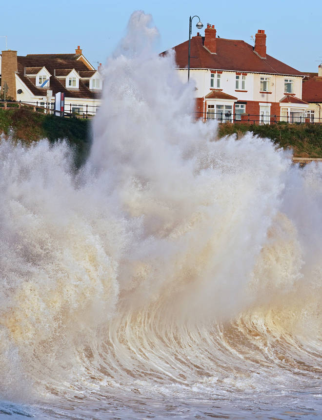 A downpour of rain is set to hit the east coast of the UK