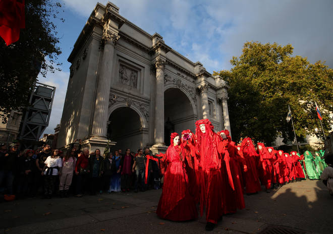 The opening ceremony at Marble Arch on Sunday