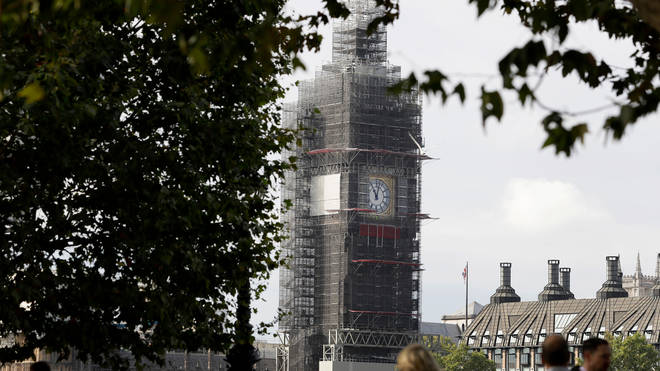 The spire of Elizabeth Tower will be unveiled from Monday