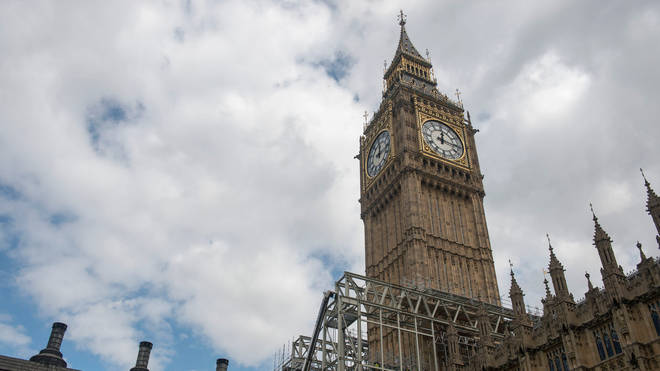 The tower before it was covered in scaffolding in 2017