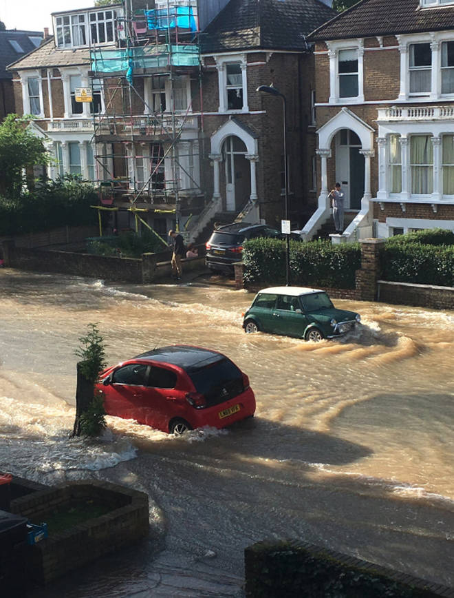 Flooding in Finsbury Park