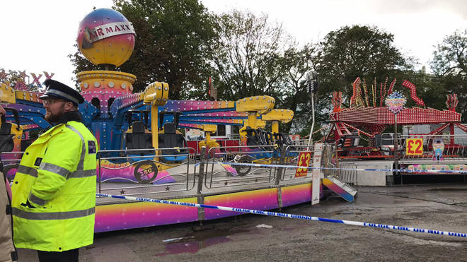 A woman was thrown from the ride at a fair in Hull