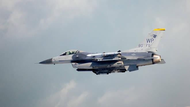 A US fighter jet crashed over a German forest
