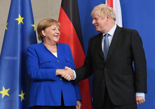 Boris Johnson and German chancellor Angela Merkel met today in Berlin