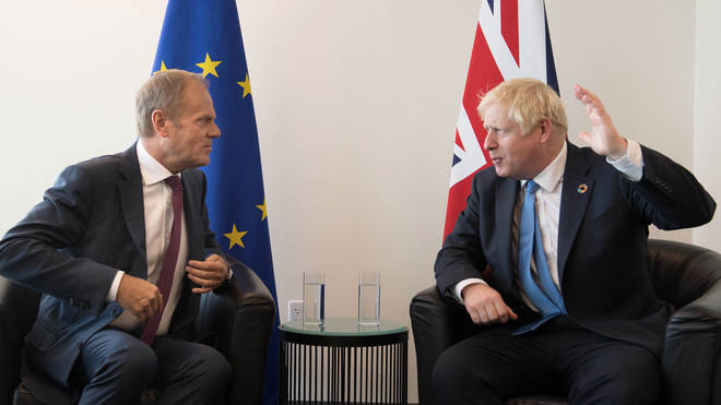 """Donald Tusk accused Boris Johnson of taking part in a """"stupid blame game"""""""