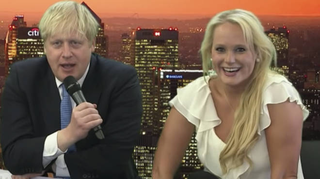 Ms Arcuri pictured with Boris Johnson during a tech summit