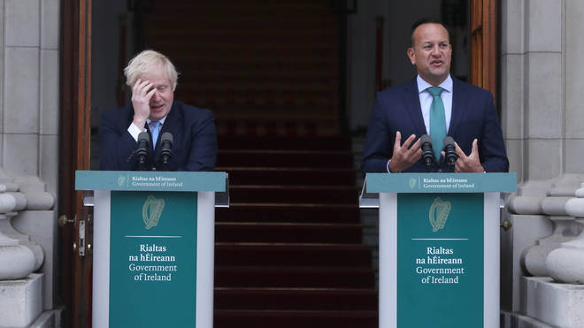 Prime Minister Boris Johnson meets Taoiseach Leo Varadkar last month