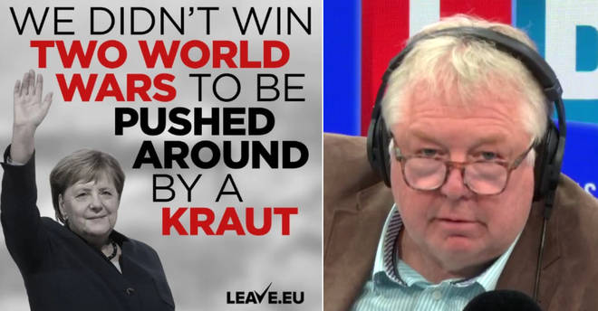 Nick Ferrari was furious about the Leave.EU poster
