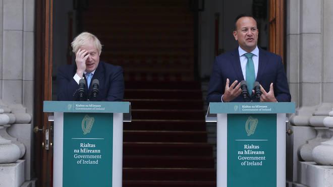 Boris Johnson and Irish PM Leo Varadkar