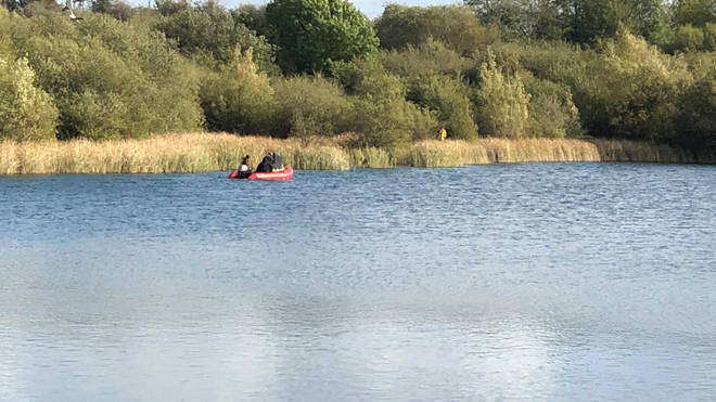 Police divers are searching a lake in their hunt for missing Leah Croucher
