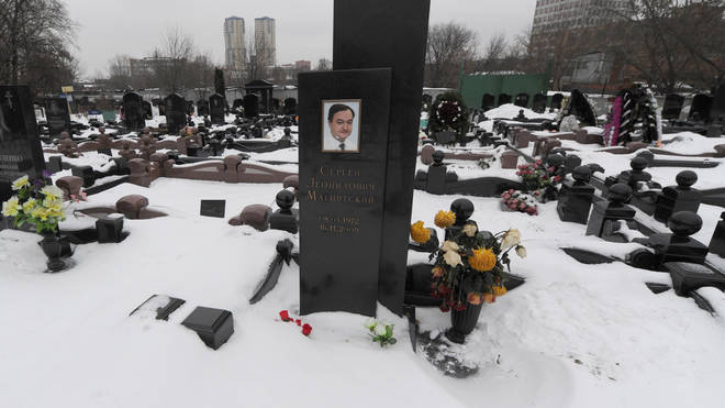 The gravestone of Sergei Magnitsky