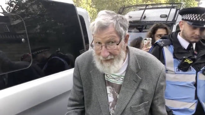 John, 91, has been arrested as part of the ongoing Extinction Rebellion protests