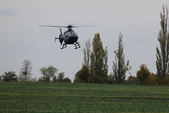 A Federal Police helicopter has been brought in