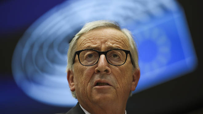 European Commission President Jean-Claude Juncker addresses European lawmakers at the European Parliament in Brussels,