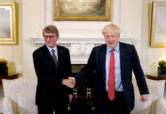 Boris Johnson and David Sassoli also had a meeting in 10 Downing Street this week