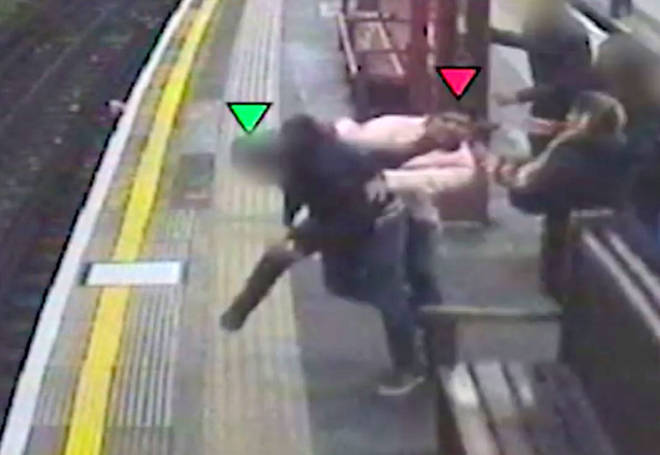 The incident took place at Baron's Court tube station