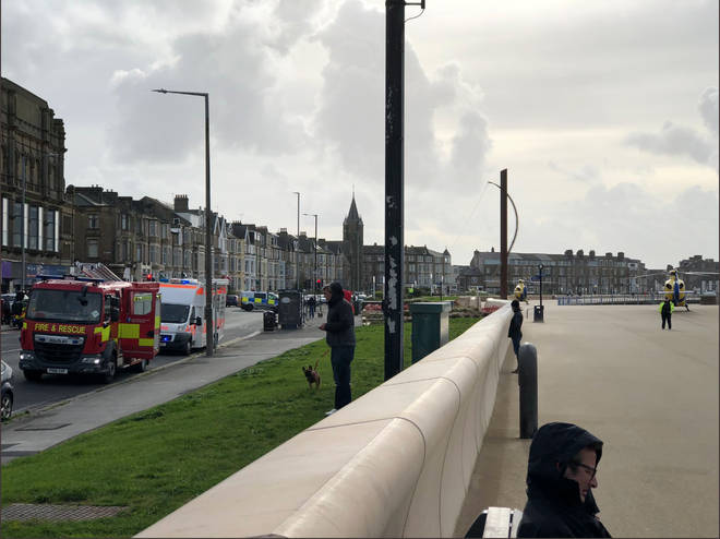 The fire happened at the Gordon Working Men's Club in Morecambe