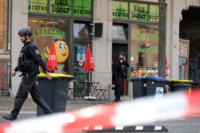 The kebab shop which the gunman chose as one of the scenes of his attack