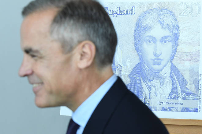 """Mark Carney said the Bank of England will continue to produced physical notes """"for as long as the public want it""""."""