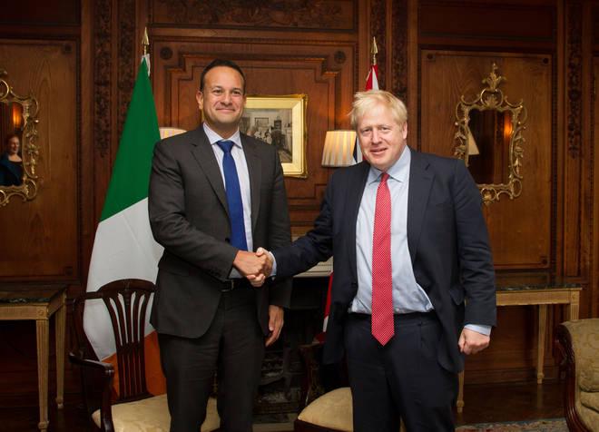 Leo Varadkar with Prime Minister Boris Johnson