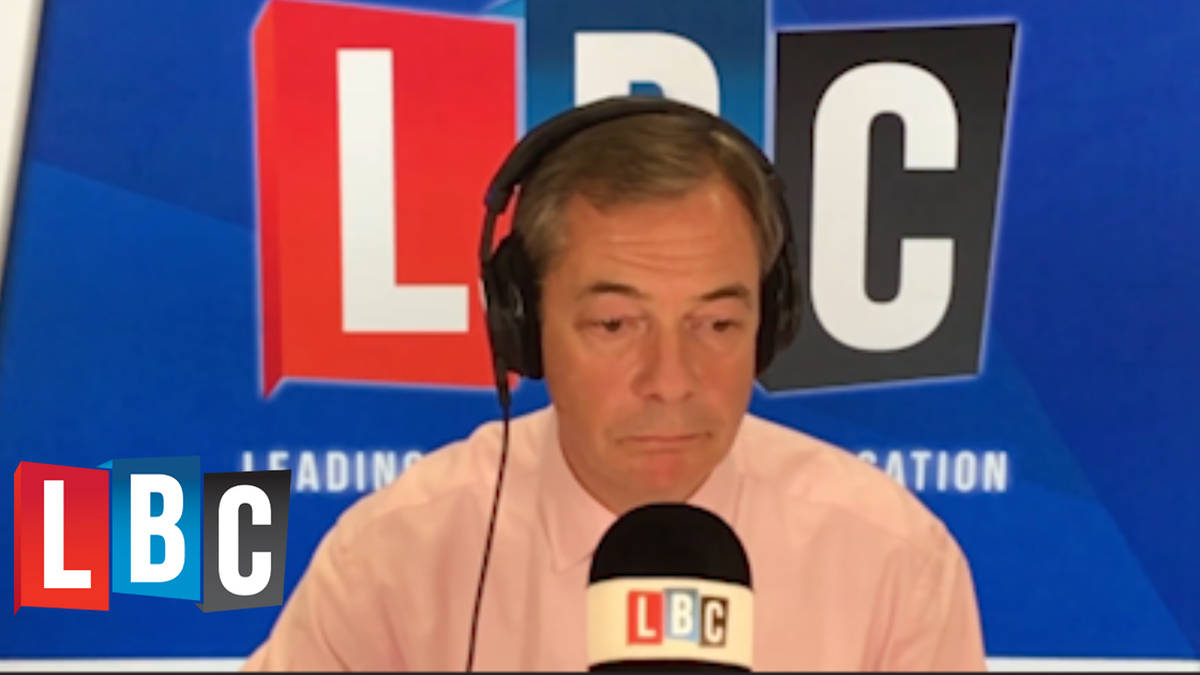 "Caller Tells Nigel Farage ""There's No Trust"" In Politicians"