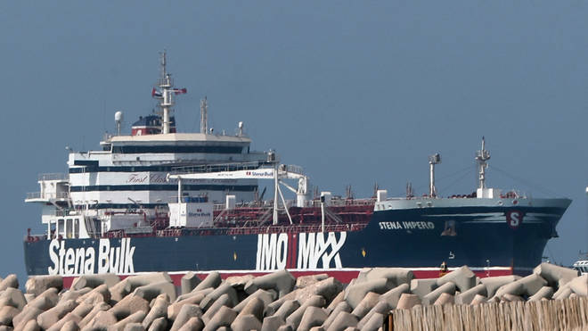 File photo: The Stena Impero was seized in July as it passed through the Strait of Hormuz