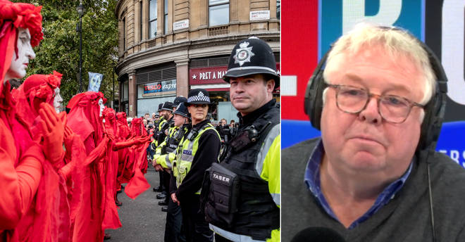 Nick Ferrari rowed with an Extinction Rebellion protester
