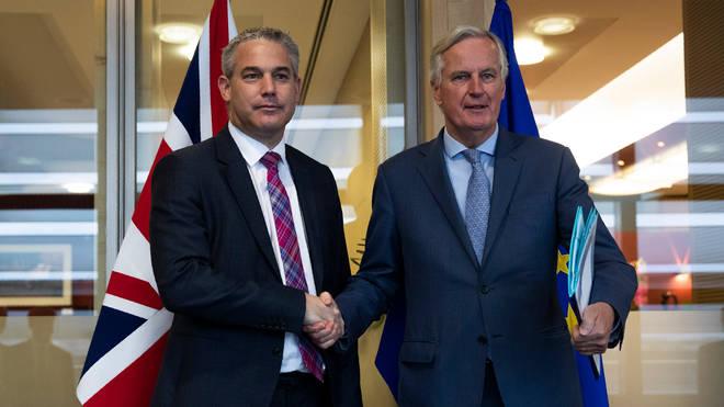 Brexit Secretary Stephen Barclay (left) is meeting Michel Barnier on Friday