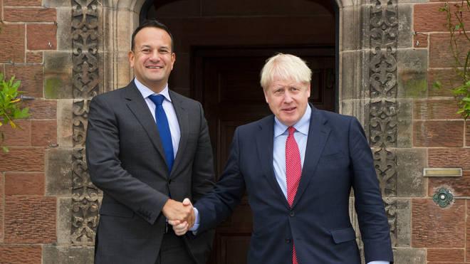 Boris Johnson (right) met Leo Varadkar on Thursday