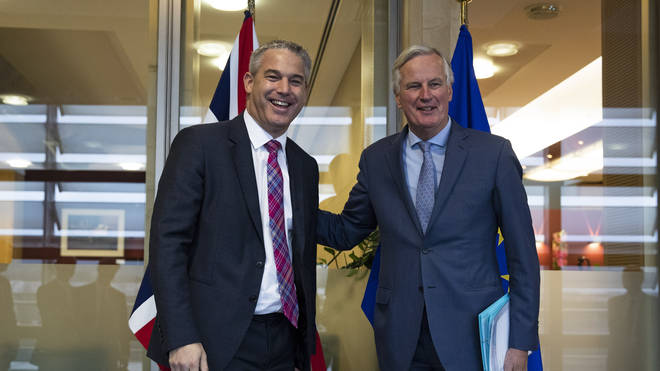 "Mr Barclay and Mr Barnier held a ""constructive meeting"" in Brussels"