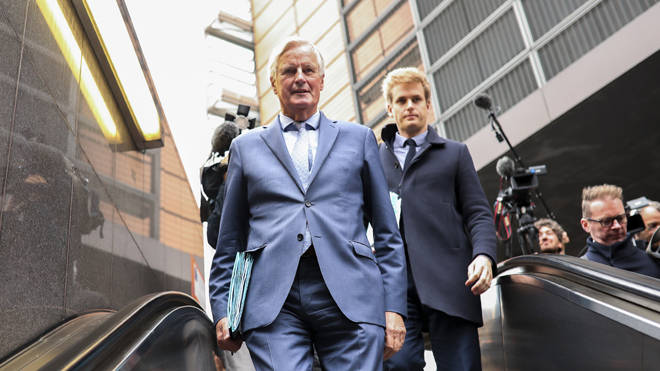 The EU's chief Brexit negotiator Michel Barnier in Brussels yesterday