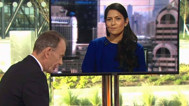 Priti Patel was accused of 'laughing' at the effects of No Deal Brexit