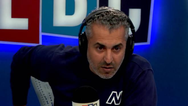 Maajid Nawaz in the LBC studio