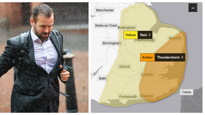 The Met Office has issued an Amber weather alert for much of south east England