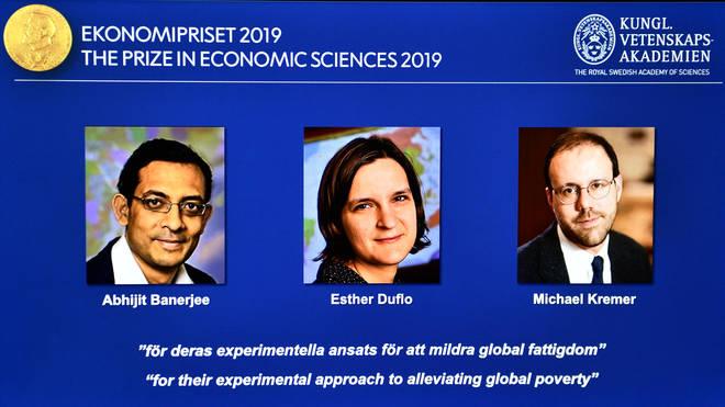 Abhijit Banerjee, Esther Duflo, and Michael Kreme receives the Nobel Prize in Economic Sciences 2019