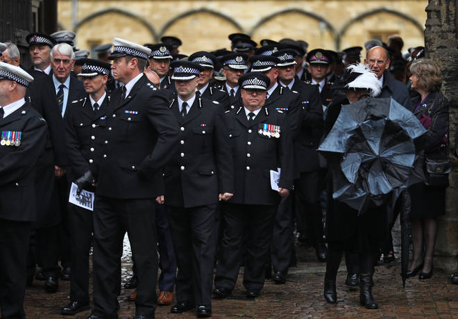 Thames Valley police officers attended the funeral