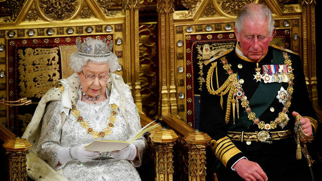 The Queen and Prince Charles attend parliament